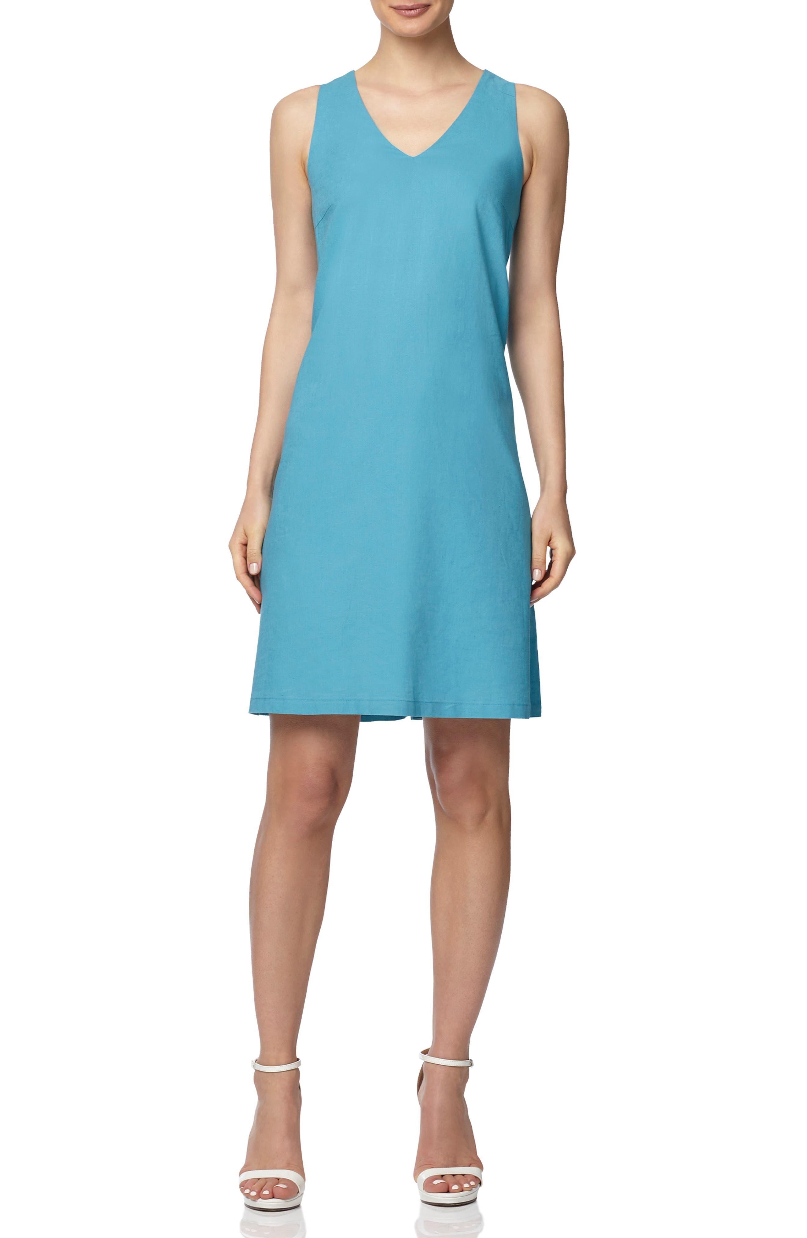 Sleeveless A-Line Linen Minidress