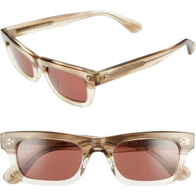 Oliver Peoples Jaye 50Mm Rectangle Sunglasses - Beige/ Rosewood