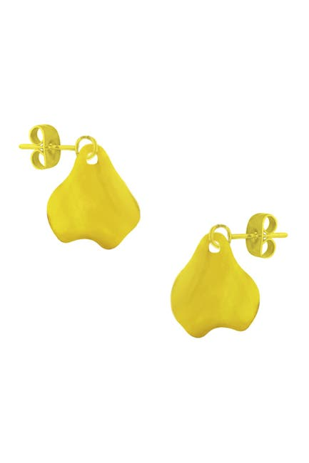 Image of Savvy Cie 18K Yellow Gold Vermeil Organic Freeform Drop Earrings