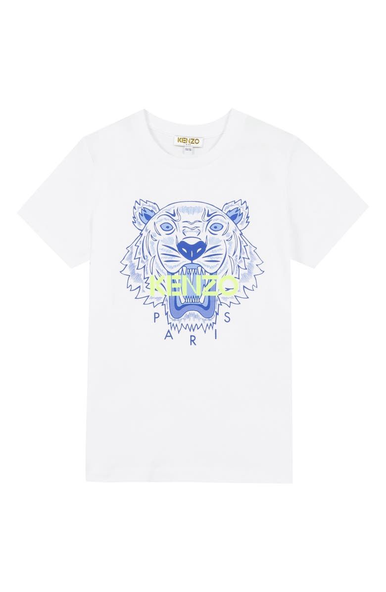 KENZO Tiger T-Shirt, Main, color, WHITE