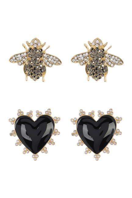 Image of BAUBLEBAR Heart & Bee 2-Piece Stud Earring Set