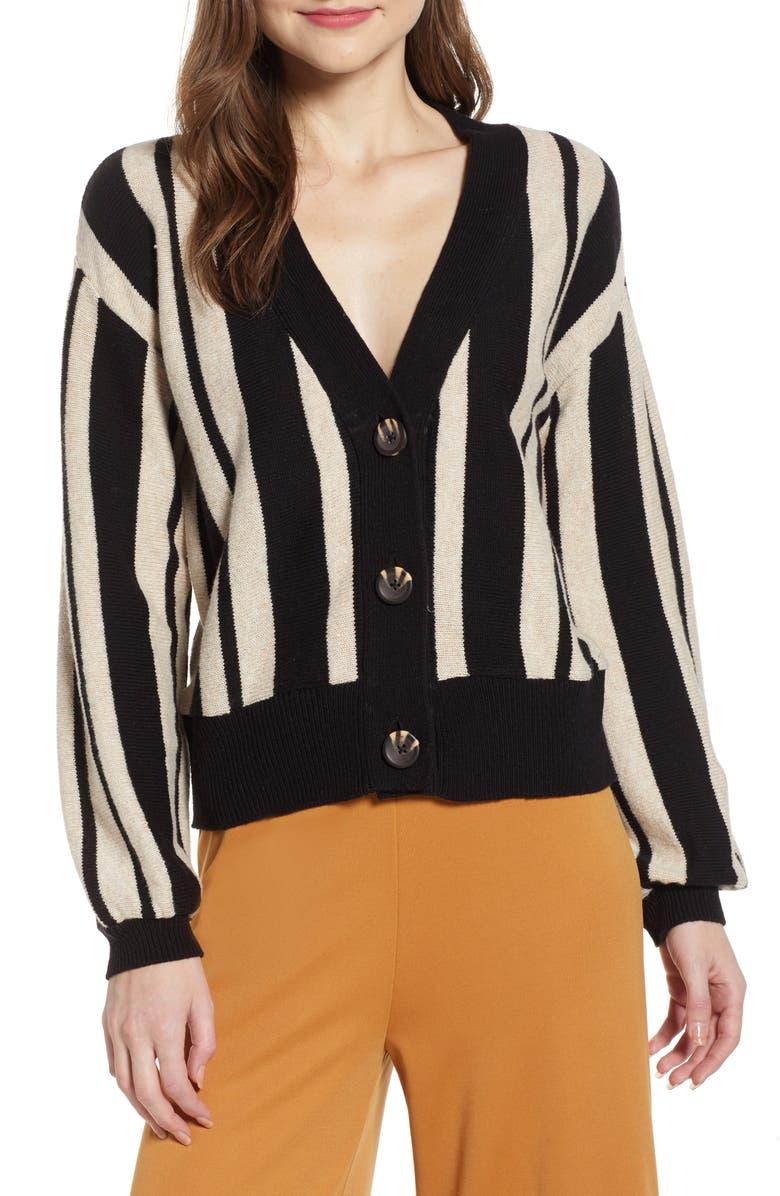 BP. Stripe Cardigan, Main, color, 001