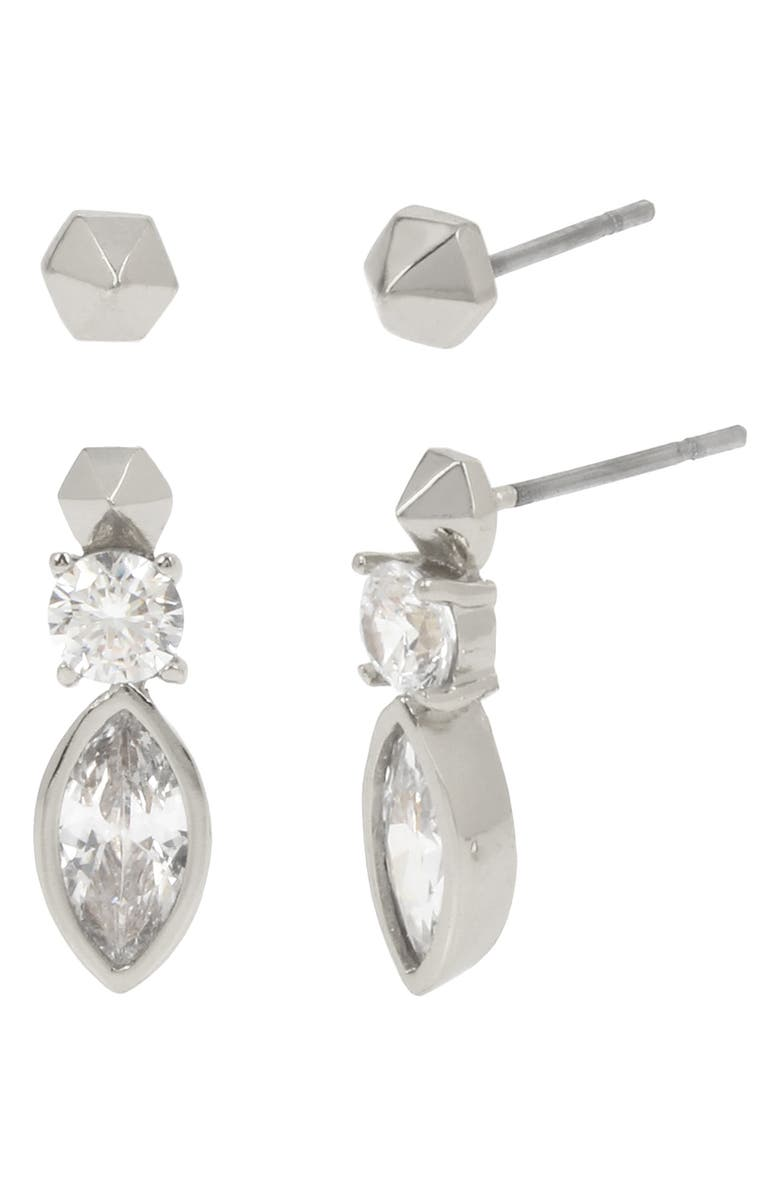 ALLSAINTS 2-Pack Pyramid Stud & Drop Earring Set, Main, color, 040