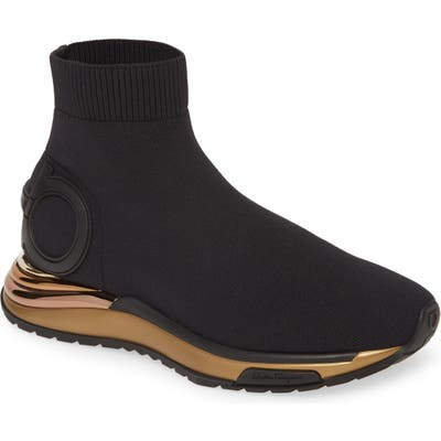Salvatore Ferragamo Gardena Knit Sneaker - Black