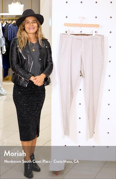 Flat Front Slim Fit Stretch Cotton Dress Pants, sales video thumbnail