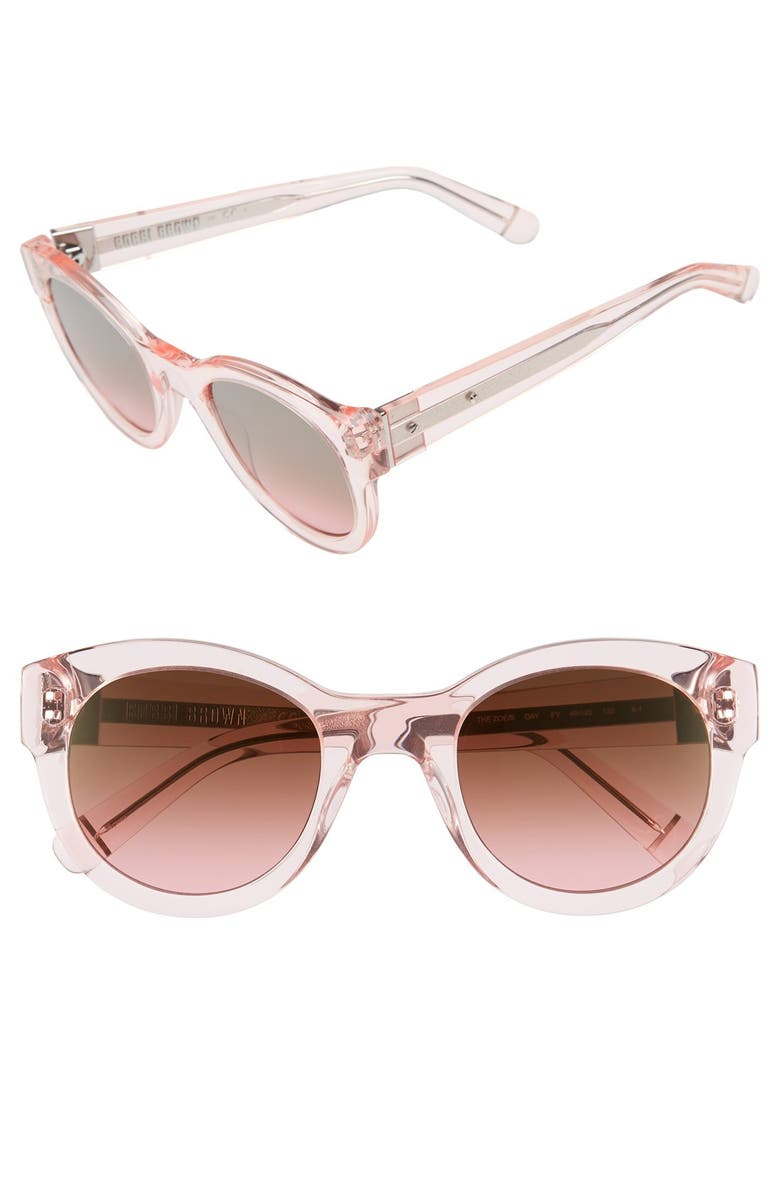 BOBBI BROWN 'The Zoe/S' 49mm Sunglasses, Main, color, 650