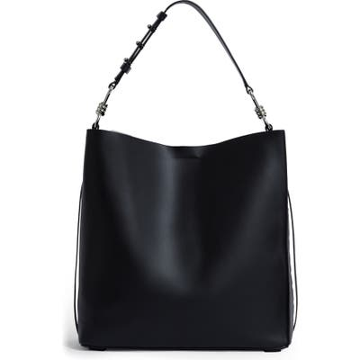 Allsaints Nina Leather North/south Tote - Black