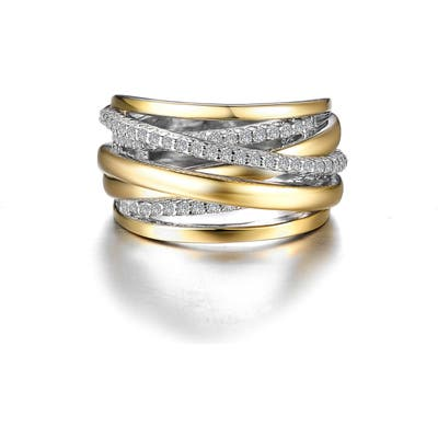 Lafonn Simulated Diamond Crossover Ring
