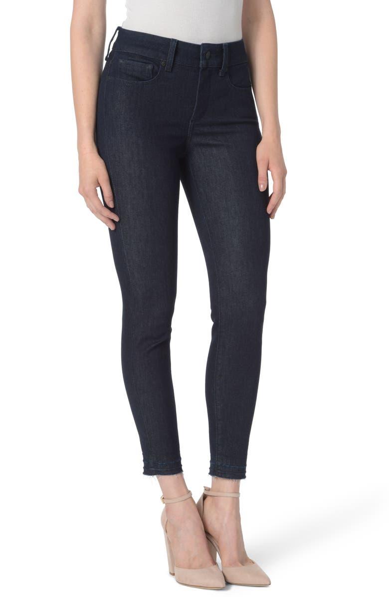 NYDJ Ami High Waist Release Hem Stretch Ankle Skinny Jeans, Main, color, 408