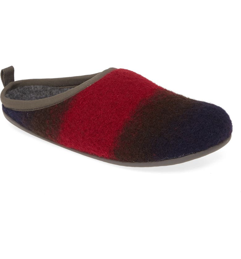 CAMPER TWINS Wool Blend Slipper, Main, color, MULTICOLOR WOOL