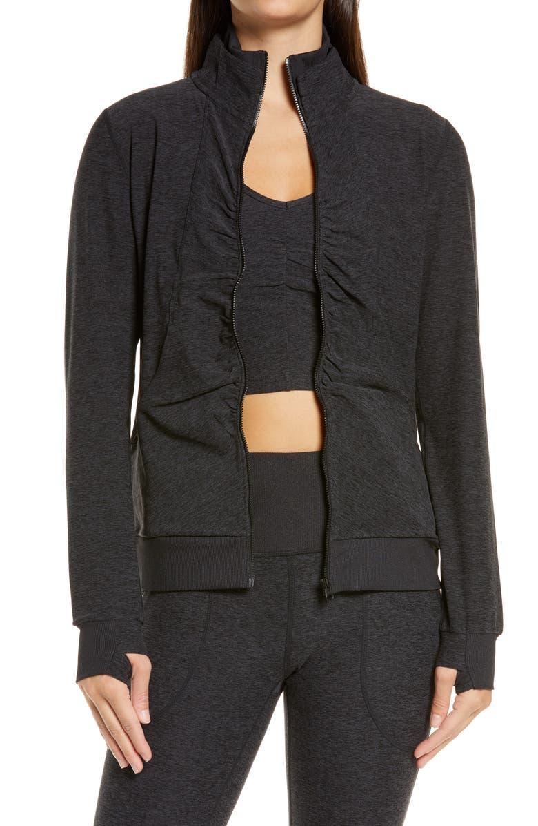 ZELLA Lola Restore Soft Lounge Cozy Jacket, Main, color, 001