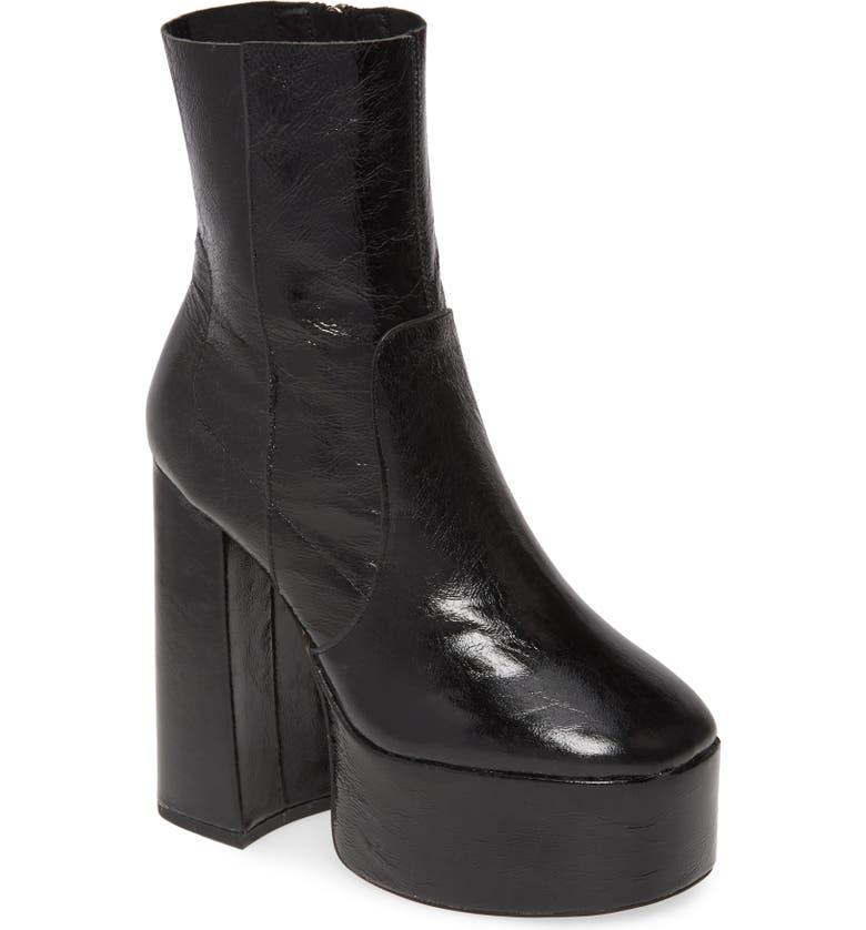 TOPSHOP Electric Genuine Calf Hair Platform Boots, Main, color, 001