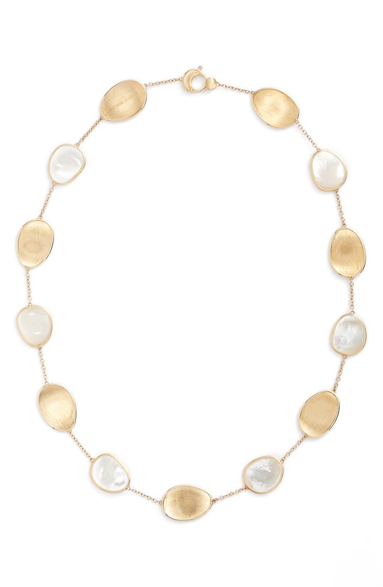 MARCO BICEGO Lunaria Mother of Pearl Collar Necklace, Main, color, WHITE MOTHER OF PEARL