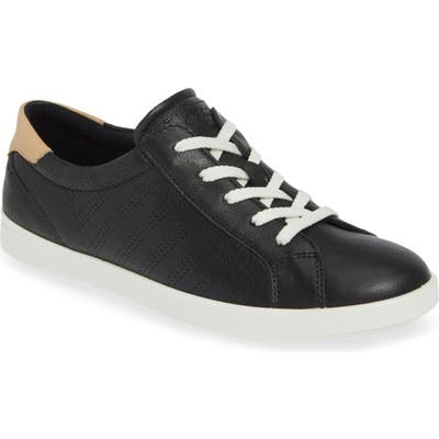 Ecco Leisure Tie Sneaker, Black