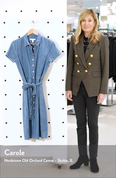 Chambray Tie Waist Shirtdress, sales video thumbnail