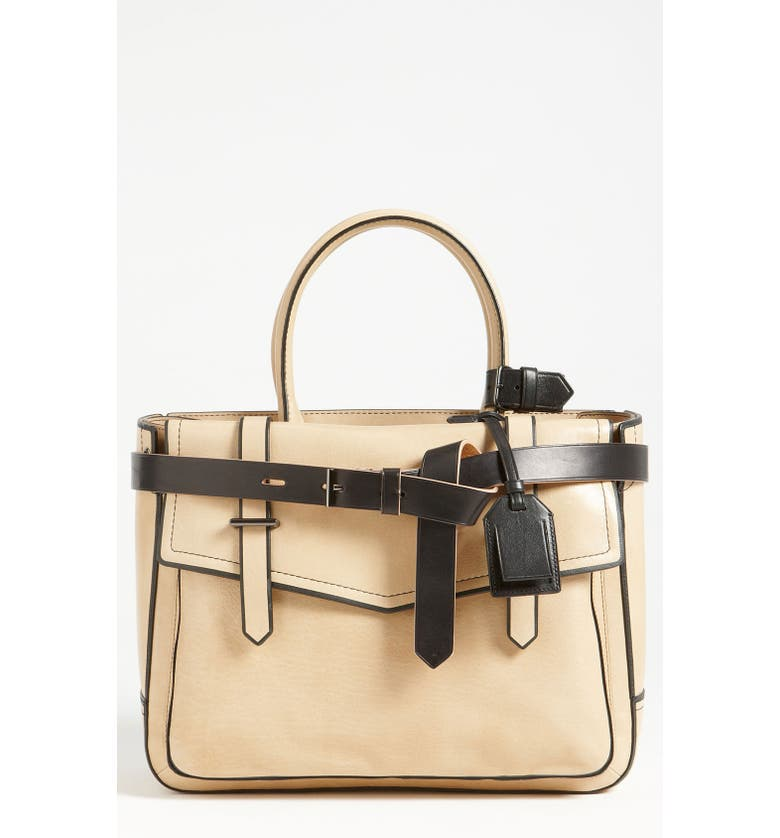 REED KRAKOFF 'Boxer' Tricolor Leather Satchel, Main, color, 001