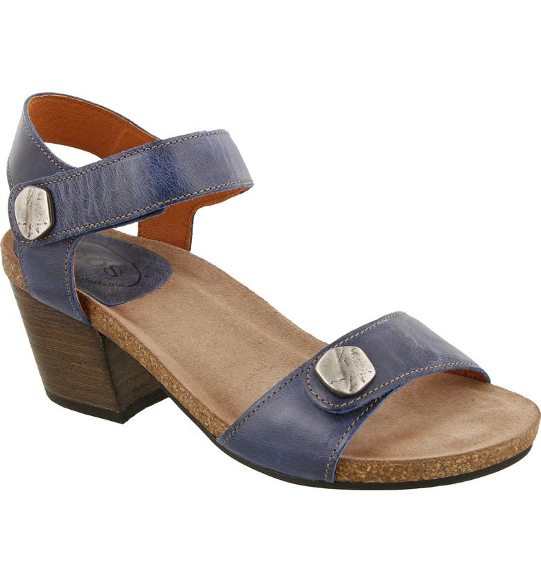 TAOS Envy Sandal, Main, color, BLUE LEATHER