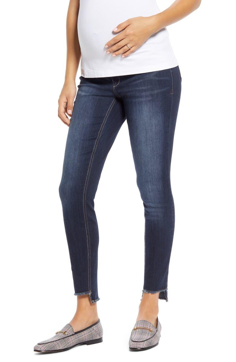 1822 DENIM Step Hem Skinny Maternity Jeans, Main, color, RAQUEL