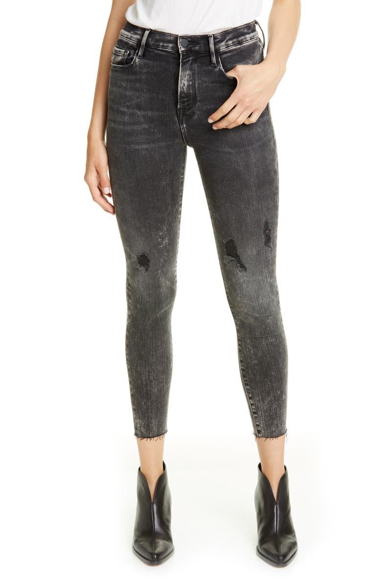FRAME Ali High Waist Crop Cigarette Skinny Jeans, Main, color, ROCKSTAR