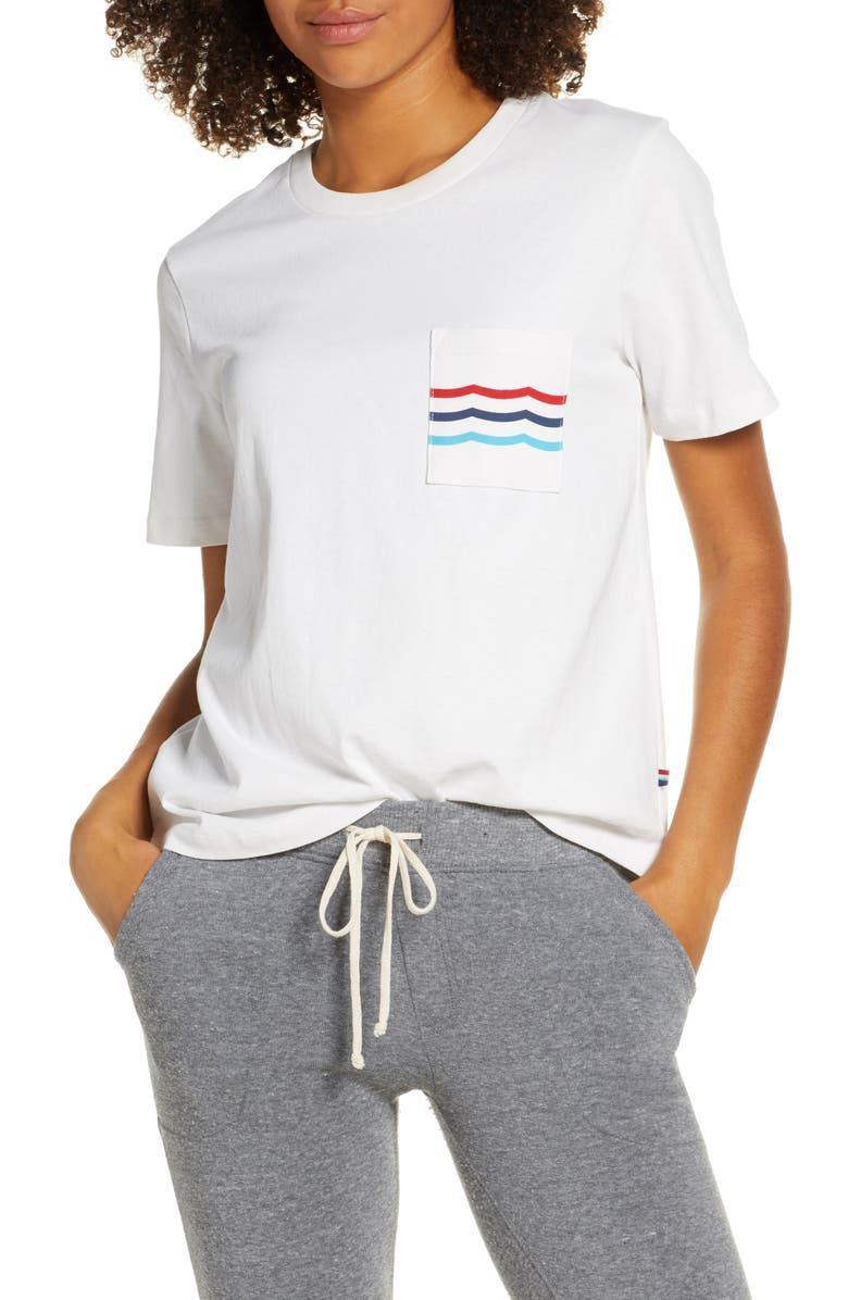 SOL ANGELES Waves Pocket Tee, Main, color, 100