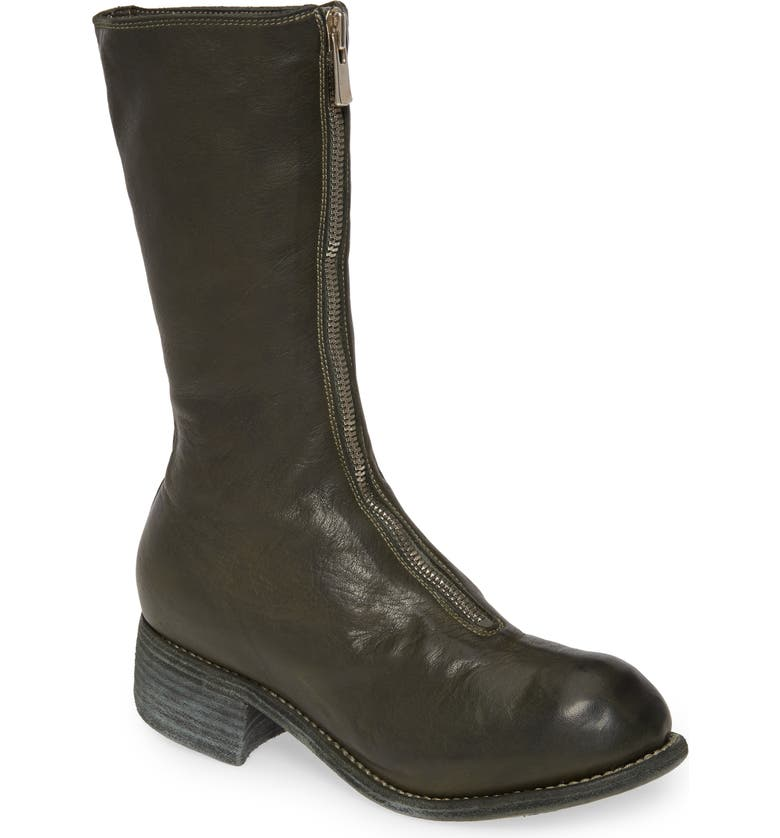 GUIDI Front Zip Boot, Main, color, MILITARY GREEN