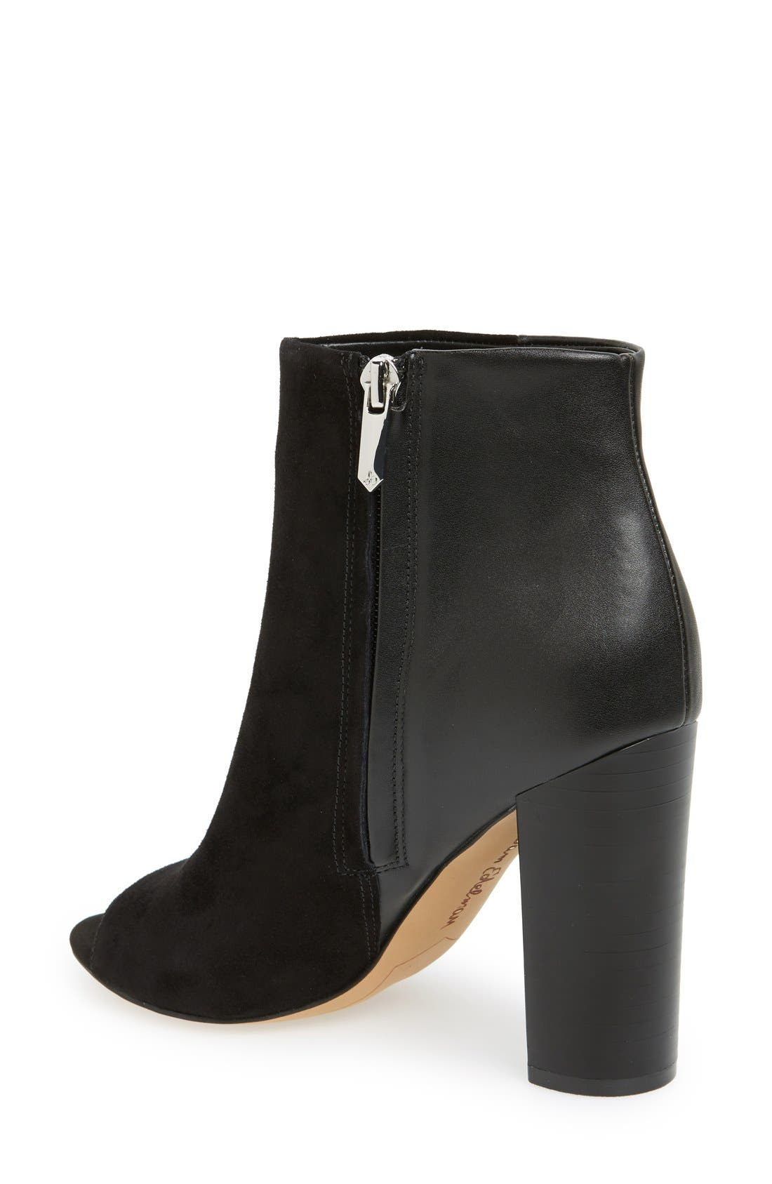 ,                             'Yarin' Open Toe Bootie,                             Alternate thumbnail 2, color,                             001
