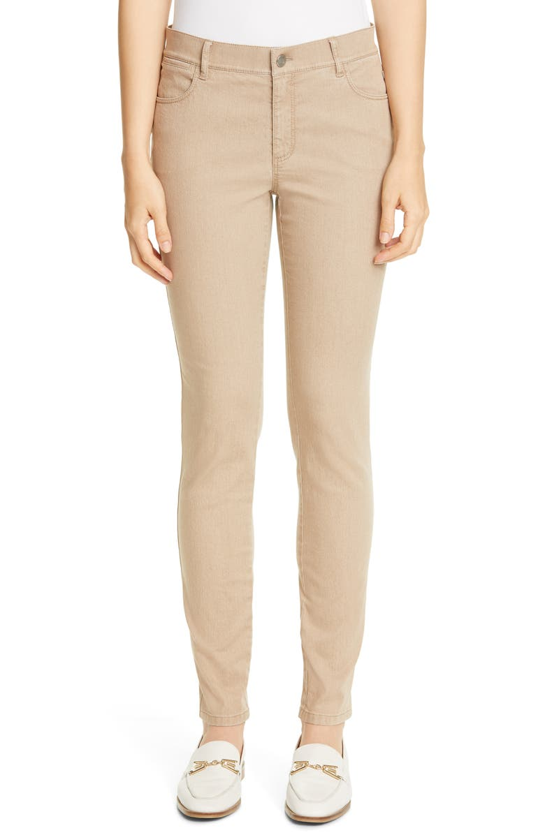 LAFAYETTE 148 NEW YORK Mercer Skinny Jeans, Main, color, PUMICE