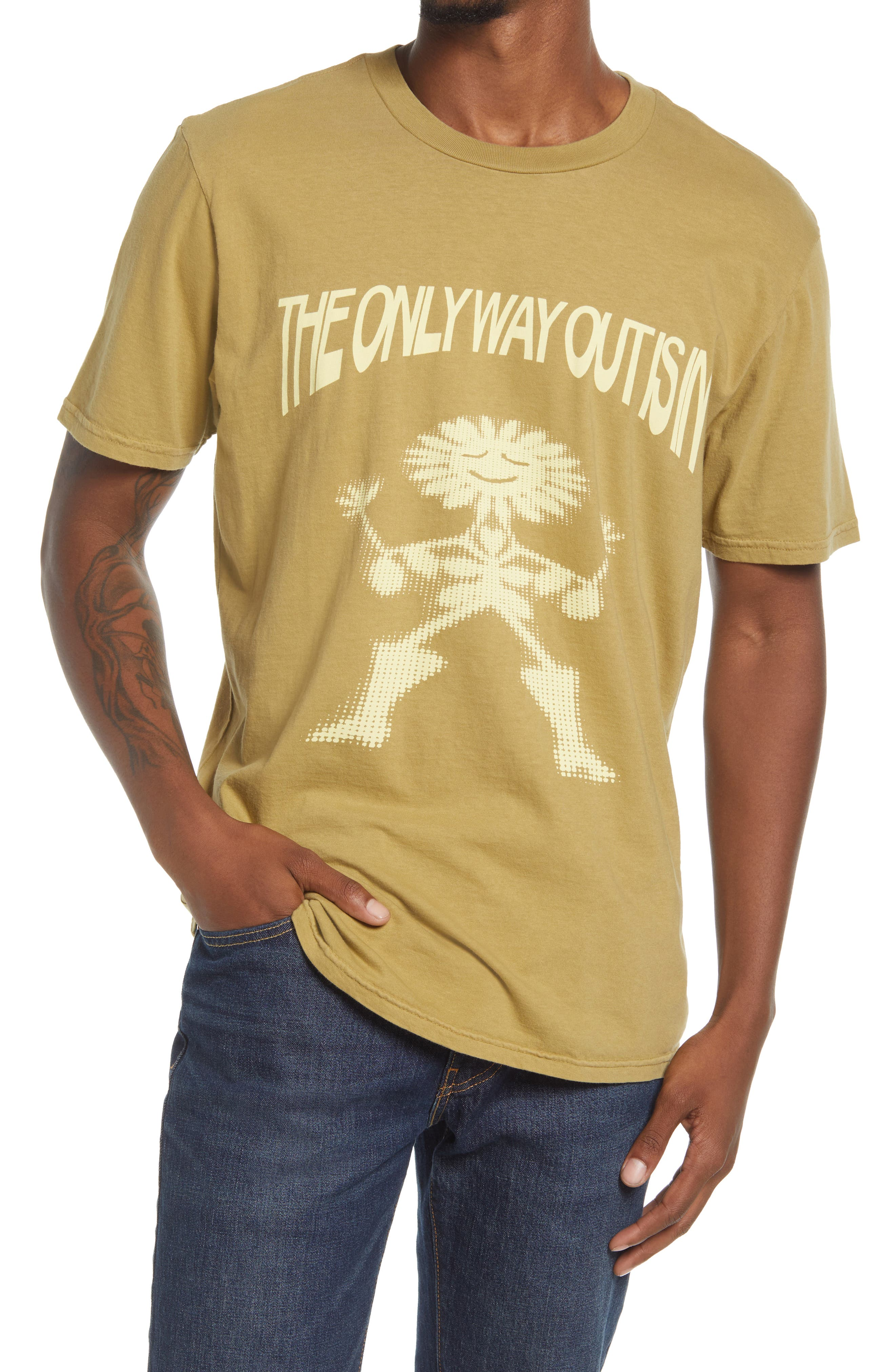 Men's The Only Way Out Cotton Graphic Tee