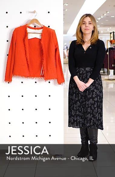 Fringe Trim Open Jacket, sales video thumbnail