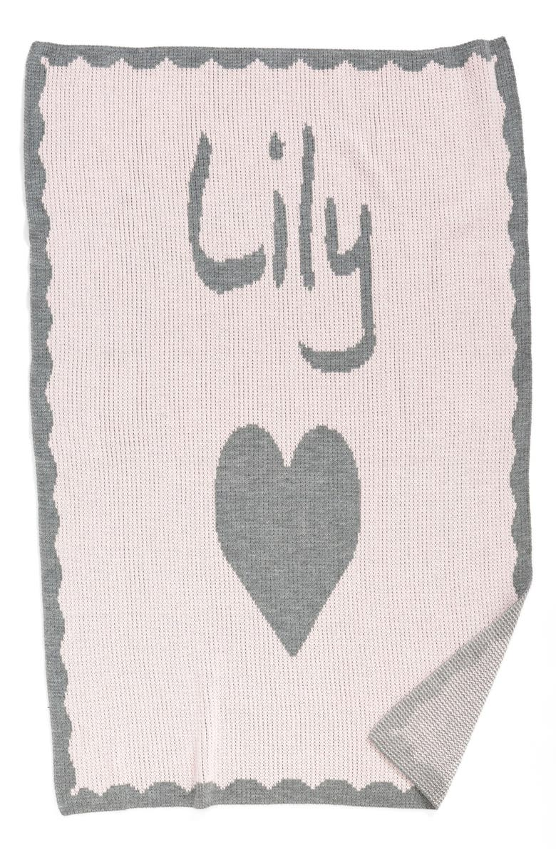 Butterscotch Blankees Heart Personalized Crib Blanket