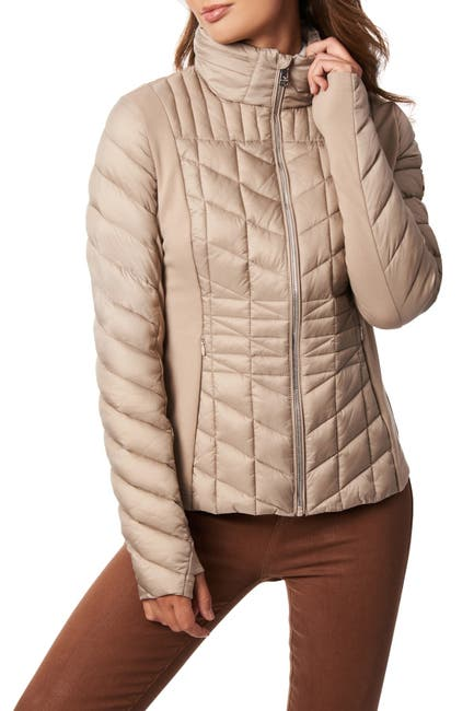 Image of Bernardo Woven Quilted Jacket