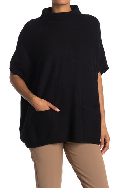 Image of Cloth By Design Mock Neck Knit Poncho