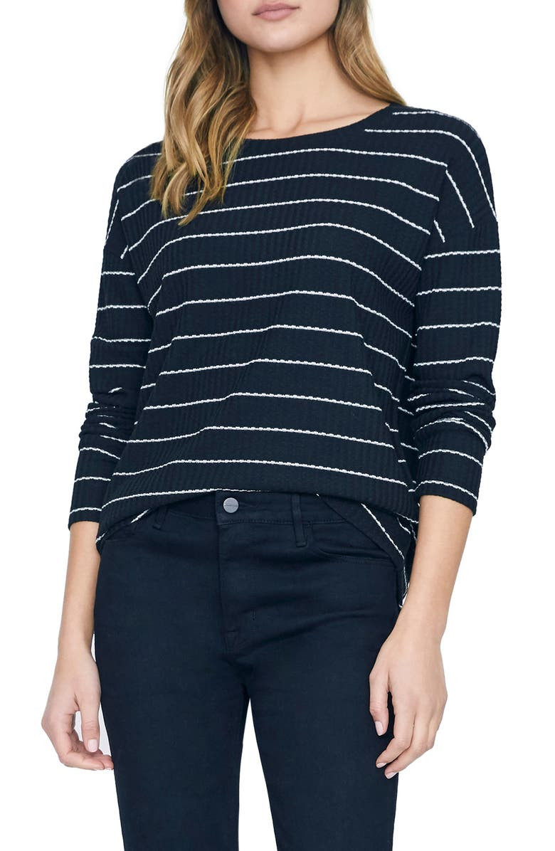 SANCTUARY Lina Waffle Knit Tunic Top, Main, color, ICONIC STRIPE