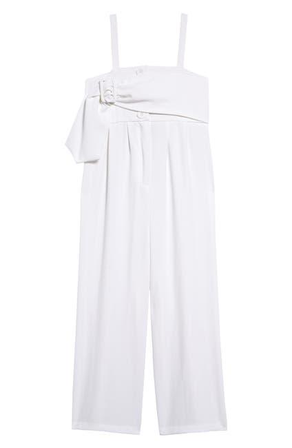 Image of Habitual Kids Sleeveless Belted Crepe Jumpsuit