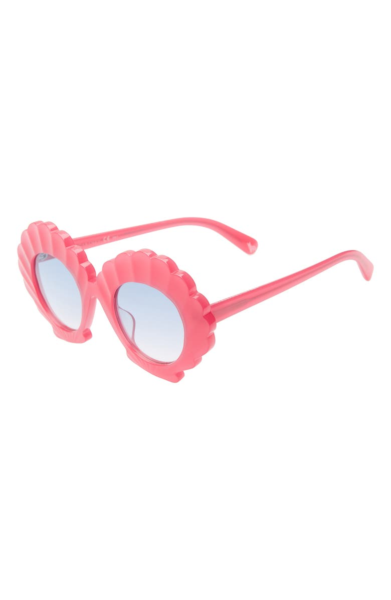STELLA MCCARTNEY KIDS 43mm Seashell Sunglasses, Main, color, RED