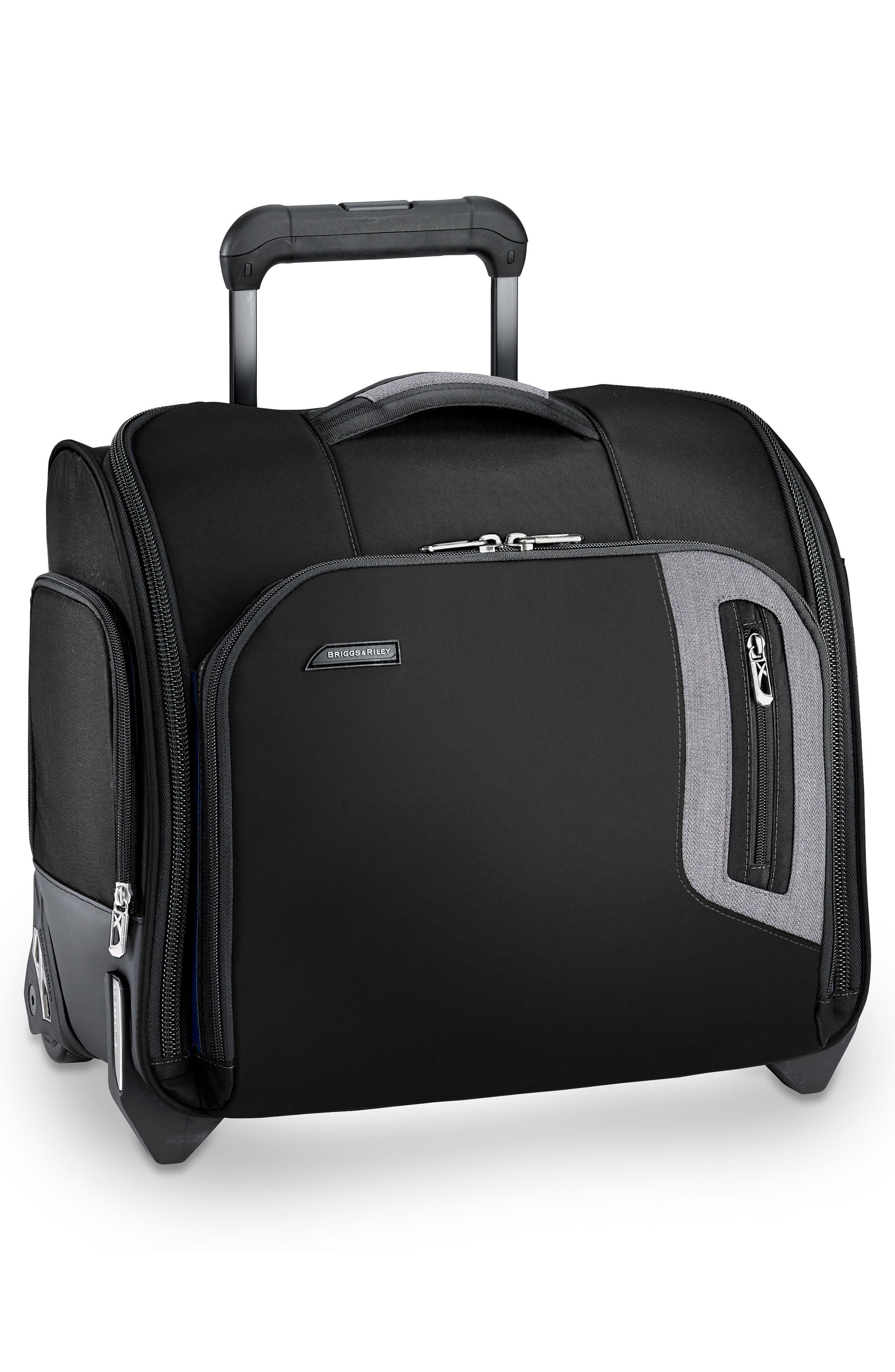 ,                             BRX Explore Wheeled Cabin Bag,                             Alternate thumbnail 3, color,                             BLACK