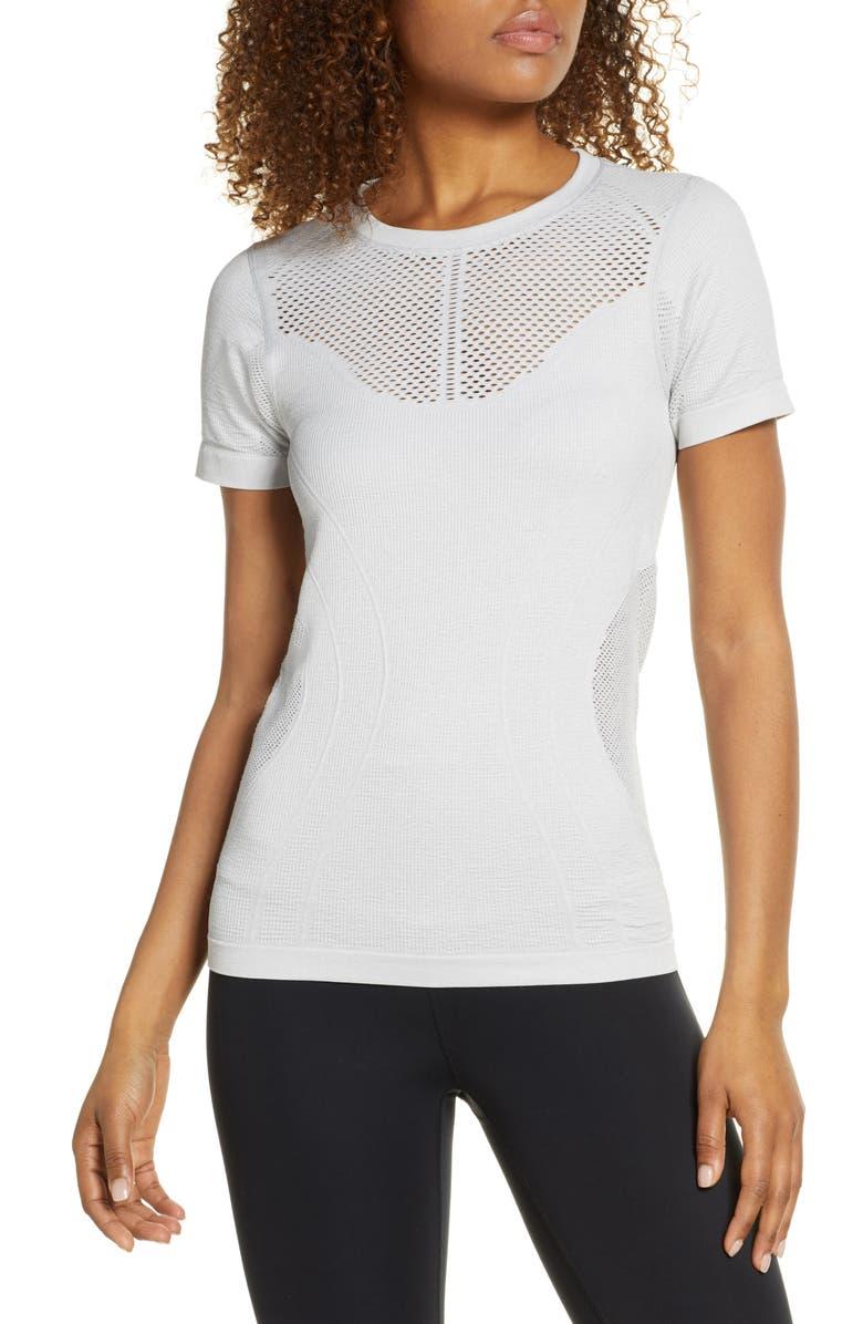 ZELLA Seamless Shirt, Main, color, GREY HEATHER