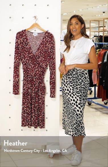 Perfect Long Sleeve Faux Wrap Dress, sales video thumbnail