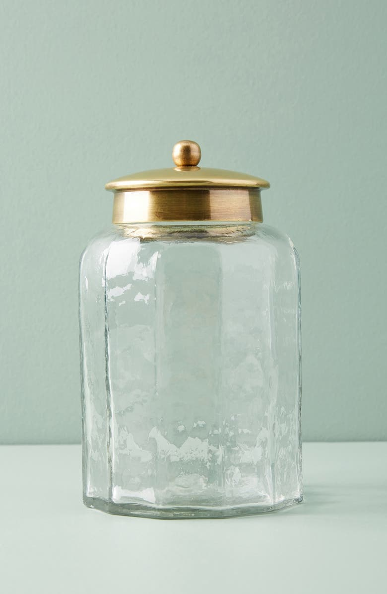 ANTHROPOLOGIE Glass Bath Jar, Main, color, 100