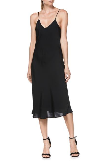 Image of PAIGE Cicely Crepe Slip Midi Dress