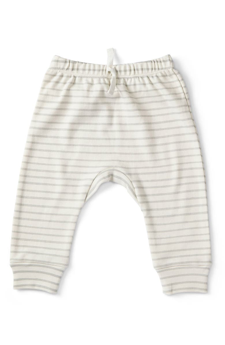 PEHR Stripes Away Harem Pants, Main, color, PEBBLE