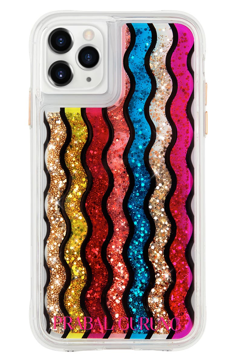 CASE-MATE<SUP>®</SUP> x Prabal Gurung Rainbow Waterfall iPhone 11, 11 Pro & 11 Pro Max Phone Case, Main, color, 600