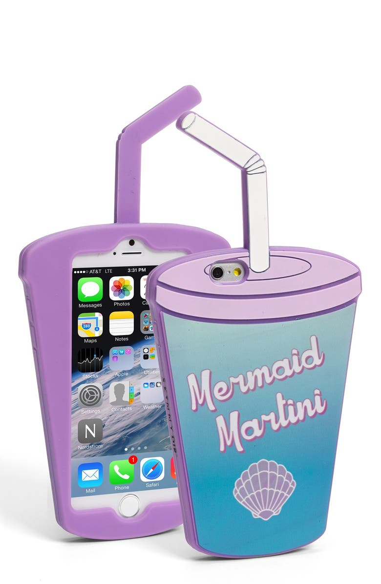 SKINNYDIP 'Mermaid Martini' iPhone 6 & 6s Case, Main, color, 400