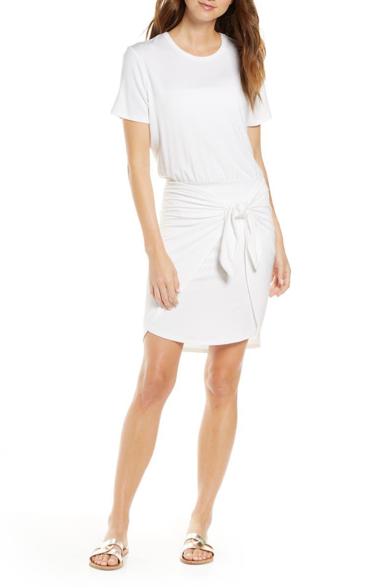 VERONICA BEARD Bernice Dress Cover-Up, Main, color, WHITE