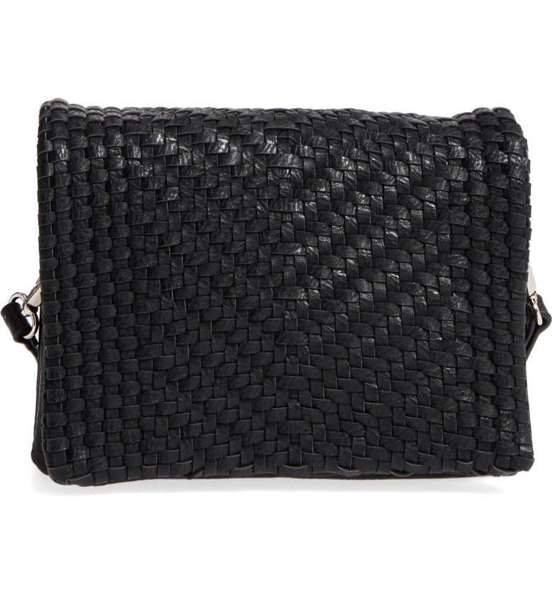 Street Level Woven Faux Leather Crossbody Bag Nordstrom
