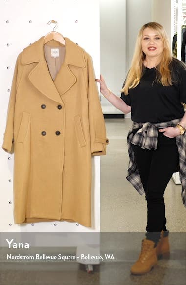 Amber Double Breasted Wool Coat, sales video thumbnail