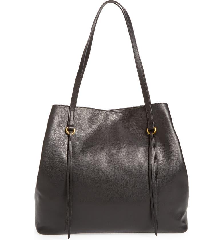 HOBO Kingston Leather Tote, Main, color, 001