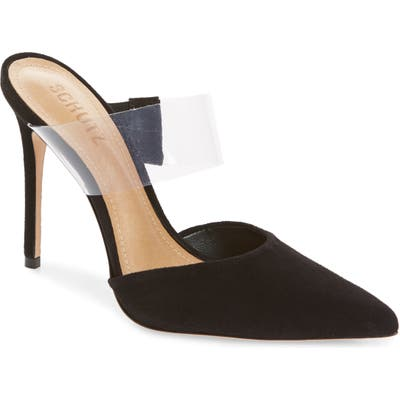 Schutz Sionne Clear Strap Pointed Toe Mule