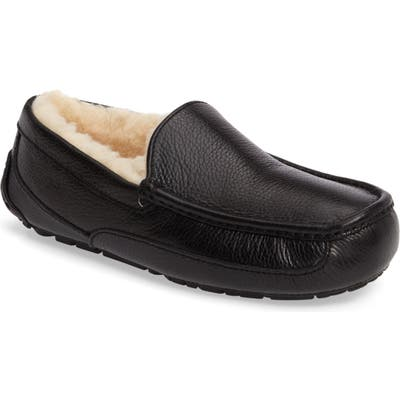 Ugg Ascot Leather Slipper, Black