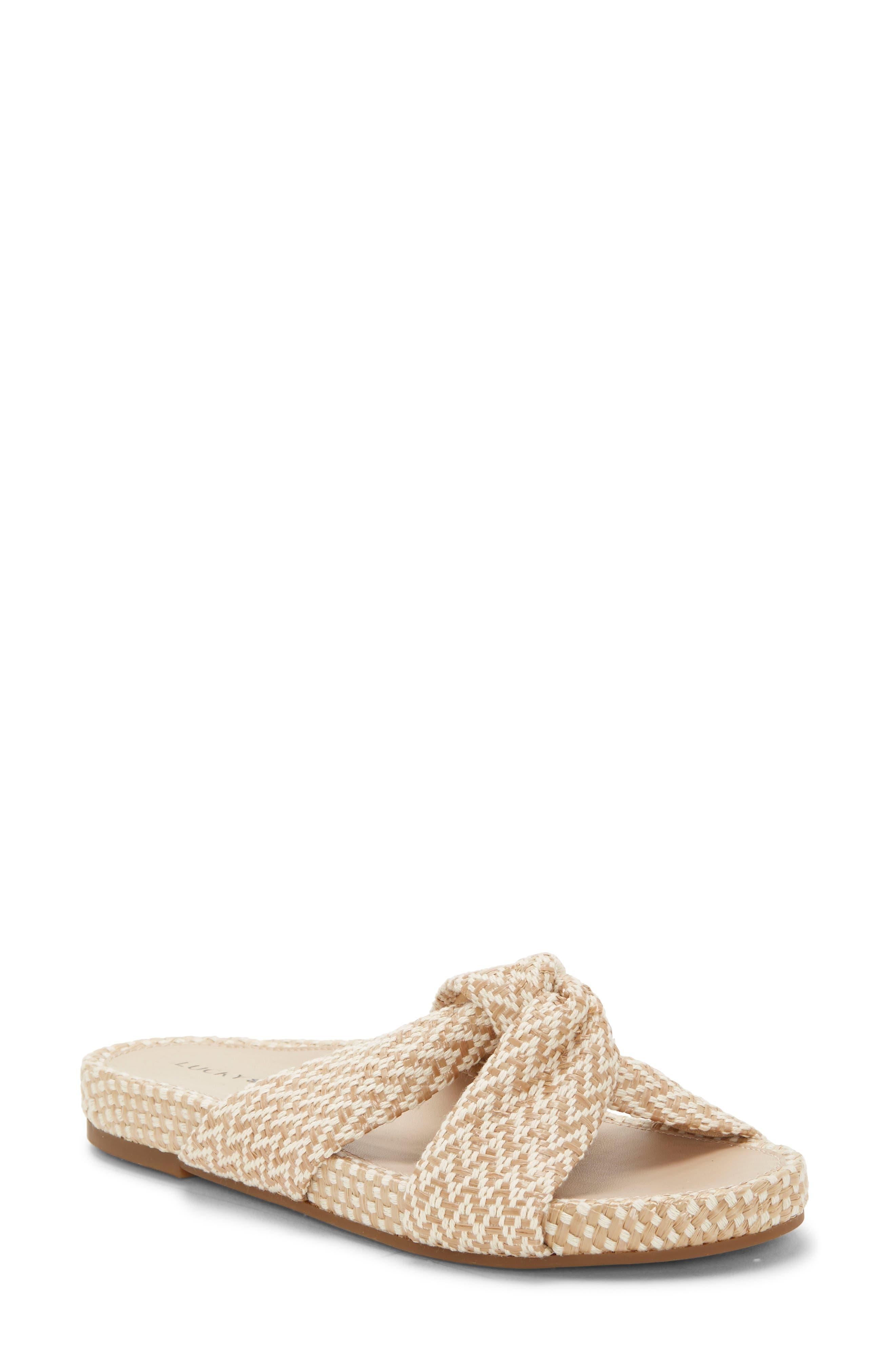 Lucky Brand Fynna Slide Sandal- Beige